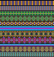 set of ornamental strips vector image