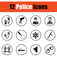 Set of police icons vector image vector image