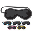 Sleep mask vector image