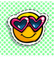 smile in love emoticon vector image vector image