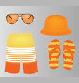 summer fashion set vector image