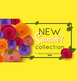 summer fashion shopping banner template vector image
