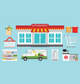 supermarket store concept vector image vector image