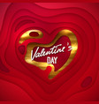 valentines day cover design vector image vector image