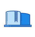 water reservoir line icon vector image