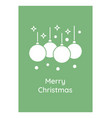 wishing merry christmas greeting card with glyph vector image
