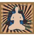 yoga zen vector image vector image