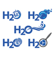 five water icons vector image