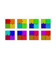 abstract colored puzzle set vector image