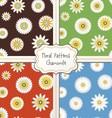Floral pattern set vector image