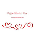 a valentine card with a red ribbon and text space vector image