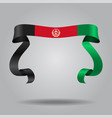 afghanistan flag wavy ribbon background vector image vector image