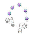 balls for juggling isolated icon vector image vector image