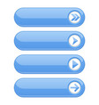 blue interface buttons with arrows vector image