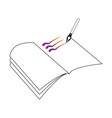book outline with pen suitable for education vector image vector image