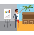 Business man at work and on vacation Flat vector image