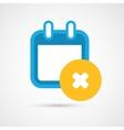 Calendar Icon - delete vector image vector image