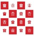 Christmas gift boxes icons set vector image vector image