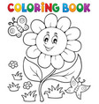 coloring book flower topic 6 vector image vector image