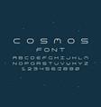 cosmos regular font alphabet vector image