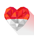 crystal gem jewelry heart of the Principality of vector image vector image