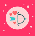 cupid bow icon on pink background vector image