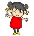 Cute girl of Chinese character vector image vector image