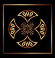 decorative swirl luxury golden flourishes vector image vector image