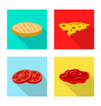 design of burger and sandwich symbol vector image vector image