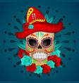 dia de los muertos skull culture vector image vector image