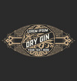 elegant gin label vector image vector image