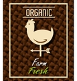 Farm fresh organic product vector image