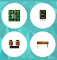 flat icon device set of bobbin unit coil copper vector image vector image