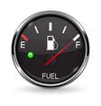 fuel gauge full tank round black car dashboard vector image vector image