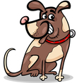 funny sitting dog cartoon vector image vector image