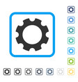 gear framed icon vector image vector image