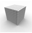 Geometric Cube vector image vector image