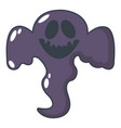 ghost scaring icon cartoon style vector image