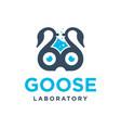 goose laboratory logo design vector image
