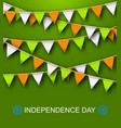 greeting background for independence day of india vector image