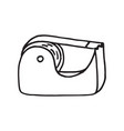hand drawn doodle scotch tape icon vector image