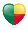 Heart icon of Benin vector image vector image