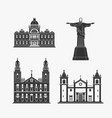 historic monument architecture brazilian vector image vector image