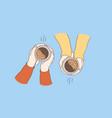 hot drinks for breakfast concept vector image