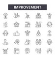 improvement line icons signs set outline vector image vector image