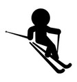 isolated skiing person icon vector image