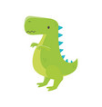 kids toy green dinosaur animal icon vector image