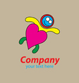 Love swimming logo vector image