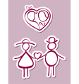 loving couple vector image vector image