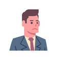 male upset emotion icon isolated avatar man facial vector image vector image
